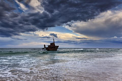 Gesetzte Wolke Ozean Sygna Stockbild