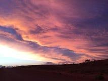 Gesetzte Wolken pedy Sonne Coober Lizenzfreie Stockbilder