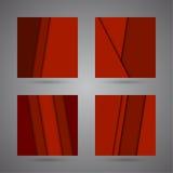 Gesetzter abstrakter Hintergrund von roten Falzen ov Stockfoto