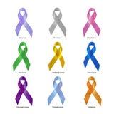 Gesetzter Beschneidungspfad des Krebsbewusstseins-Bandes Stockbilder