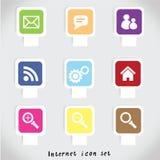 Gesetzter bunter Vektor der Internet-Ikone Stockfotos