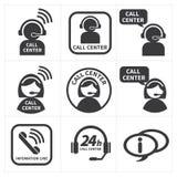 Gesetzter Call-Center der Ikone Stockbild
