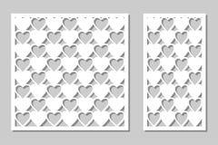 Gesetzter dekorativer Plattenlaser-Ausschnitt Hölzernes Panel Modern, elegan vektor abbildung