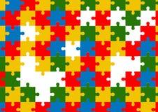 Gesetzter Hintergrund des bunten Puzzlespielvektors Stockfoto