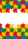 Gesetzter Hintergrund des bunten Puzzlespielvektors Stockbilder