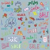 Gesetzter Hintergrund des Verkaufs lizenzfreie abbildung