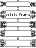 Gesetzter keltischer Rahmen Lizenzfreie Stockfotos