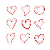 Gesetzter Liebesillustrationsentwurf vektor abbildung