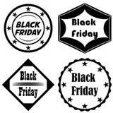 Gesetzter Vektor Black Friday-Ikone stockfoto