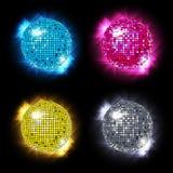 Gesetzter Vektor der Disco-Kugel/eps10 Lizenzfreies Stockbild