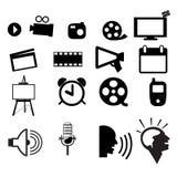 Gesetzter Vektor der Filmikone Lizenzfreie Stockfotografie