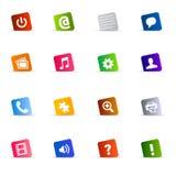 Gesetzter Vektor der kühlen Web-Taste Lizenzfreie Stockbilder
