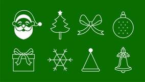 Gesetzter Vektor der Weihnachtsikone lokalisiert Lizenzfreie Stockfotos