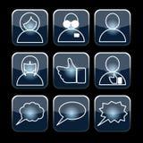 Gesetzter Vektor des sozialen Lizenzfreie Stockbilder