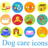 Gesetztes buntes der Hundeikonen-Ebene Lizenzfreies Stockbild