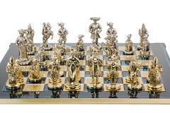 Gesetztes dekoratives Schach des Geschenks Lizenzfreies Stockfoto