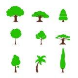 Gesetztes einfaches des Baums vektor abbildung