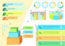 Gesetztes flaches Design-Geschäft Infographic stock abbildung