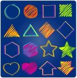 Gesetztes geometrisches Logo Lizenzfreies Stockfoto