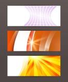 Gesetztes horizontales Fahnenschlagzeilen-Zusammenfassungsglühen lines18 Stockfotos