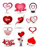 Gesetztes Liebeskonzept des Herzens Lizenzfreie Abbildung