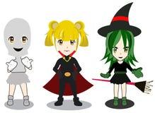 Gesetztes Mädchen Halloweens Lizenzfreie Stockfotografie