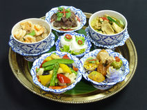 Gesetztes Menü des thailändischen Lebensmittels Lizenzfreie Stockbilder