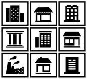Gesetztes modernes städtisches Gebäude Lizenzfreies Stockbild