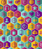 Gesetztes Muster APP-Ikone Stockbilder