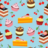 Gesetztes Muster der Kuchensüßspeise Stockbilder