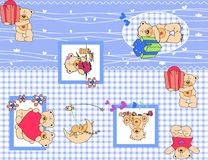 Gesetztes Muster der Teddybärnatur Lizenzfreie Stockfotografie