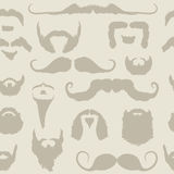 Gesetztes nahtloses Muster des Schnurrbartes und des Bartes Lizenzfreie Stockbilder