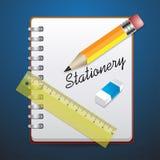 Gesetztes Notizbuch des Briefpapiers Lizenzfreie Stockbilder