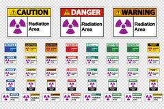 Gesetztes Strahlungs-Bereichs-Symbol-Zeichen auf transparentem Hintergrund lizenzfreie abbildung
