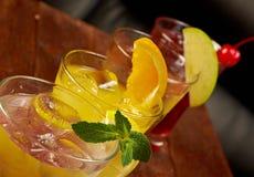 Gesetztes tropisches kaltes Cocktail Lizenzfreie Stockfotografie