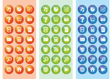 Gesetztes Web 2.0 der Ikone Lizenzfreies Stockbild