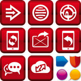 Gesetztes Web der Ikone Lizenzfreie Stockfotos