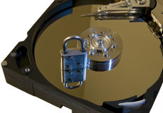 Gesichertes Festplattenlaufwerk lizenzfreie stockfotos