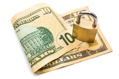 Gesichertes Geld Lizenzfreie Stockfotografie