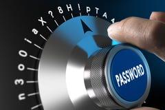 Gesichertes und sicheres Passwort Stockbild