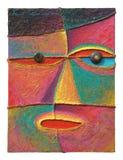 Gesicht 10_2004_Acrylic auf Segeltuch Lizenzfreies Stockfoto