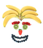 Gesicht aus Früchten heraus lizenzfreie stockfotos