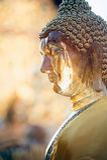 Gesicht Buddha-Statue im Freien bei Wat Phra That Doi Suthep in Chiangmai, Thailand Lizenzfreie Stockfotografie