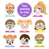 Gesicht, das 7 malt Lizenzfreie Stockbilder