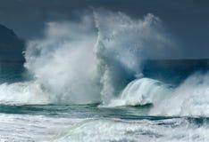 Gesicht in den Wellen Stockfoto