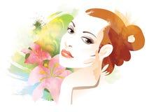 Gesicht der Frau Stockbilder