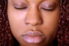 Gesicht der Frau mit geschlossenen Augen Lizenzfreie Stockbilder