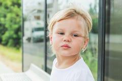 Gesicht der Frau Nettes blondes Baby Lizenzfreies Stockbild