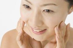 Gesicht der japanischen Frau lizenzfreies stockbild