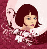 Gesicht der jungen Frau stock abbildung